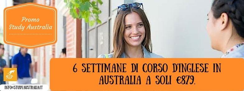 PROMO STUDY AUSTRALIA6 settimane di corso d'inglese in Australia a soli €879.